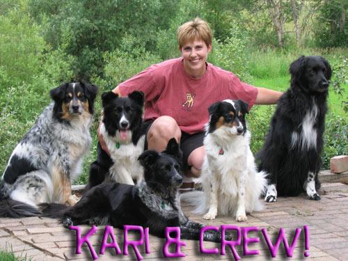 Kari and her dogs